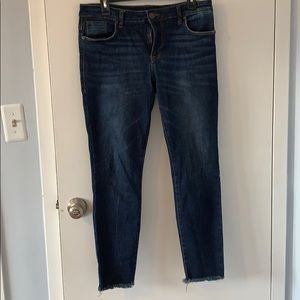 STS skinny ankle Jean with distressed hem